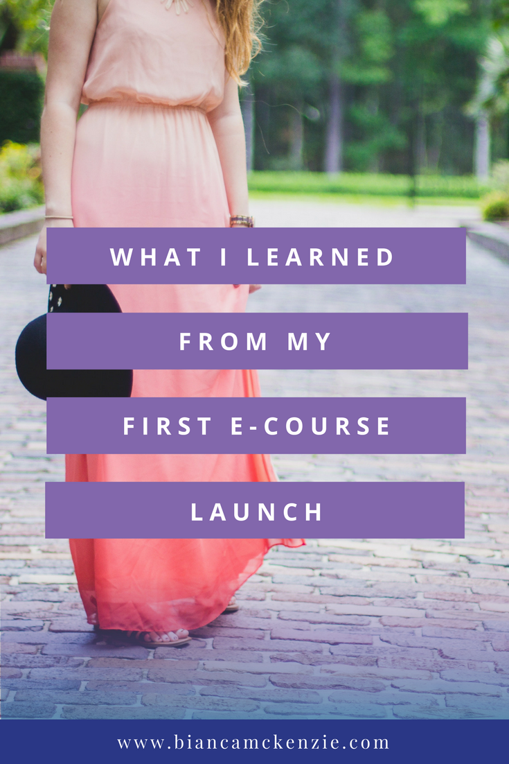 What I learned from my first ecourse launch