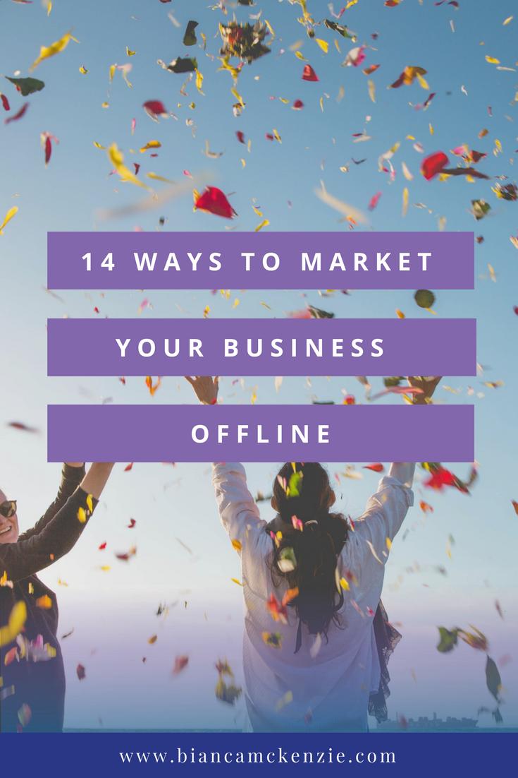 14 Ways to market your business offline