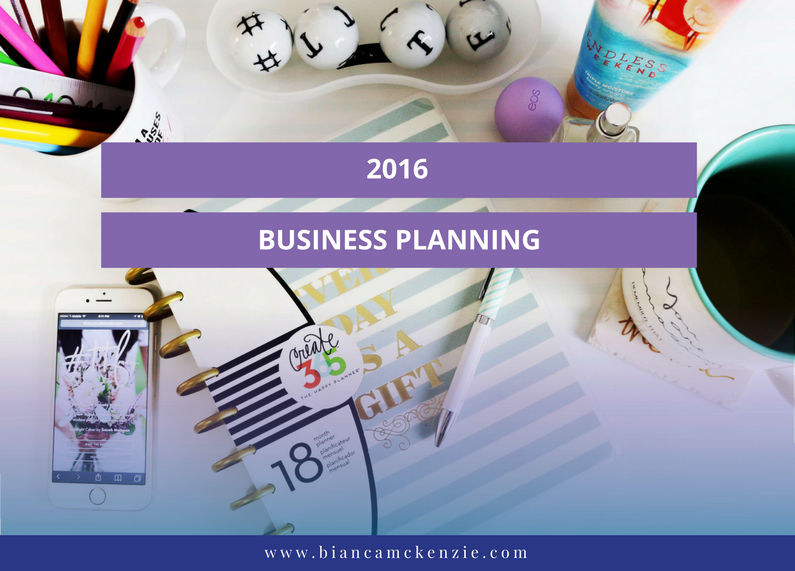 2016 Business Planning