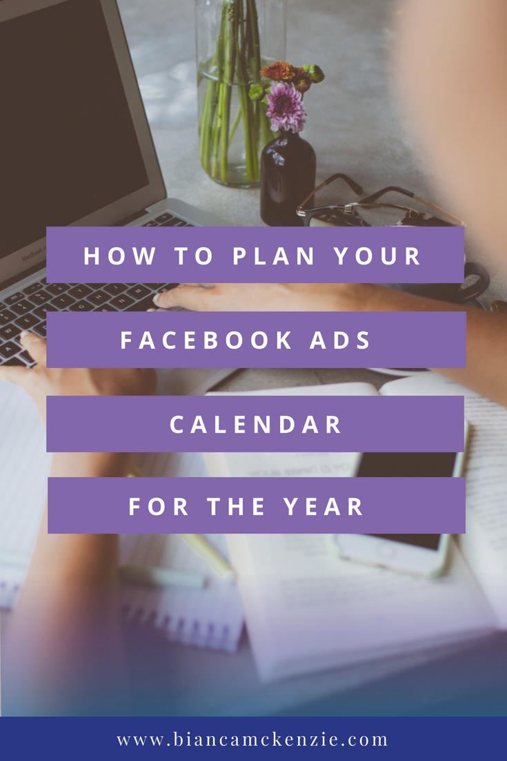 Facebook ads calendar