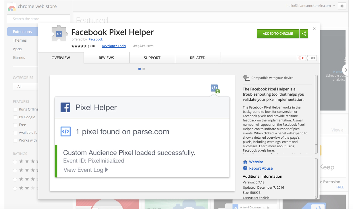 Facebook Pixel Helper - Chrome Web Store 2017-02-20 10-41-55