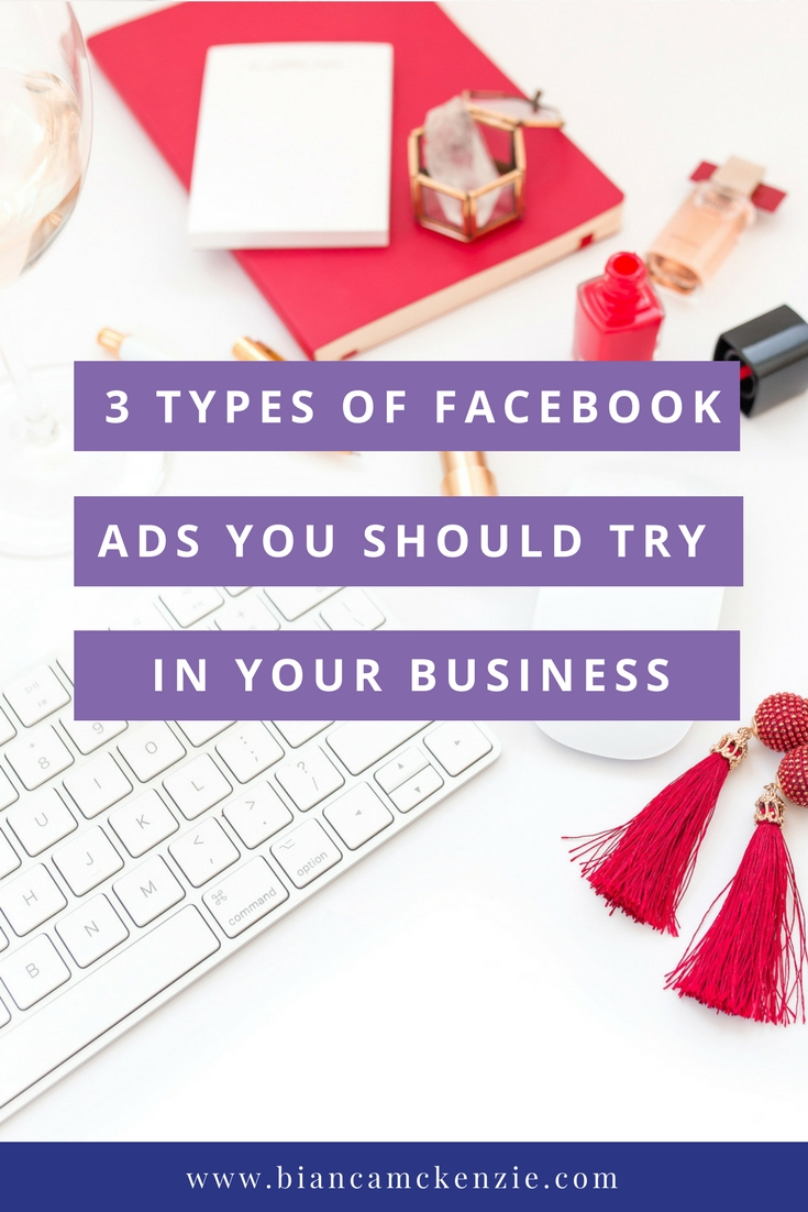 3 types of Facebook Ads