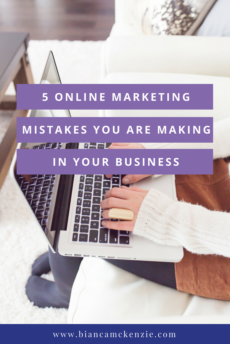 5 online marketing mistakes