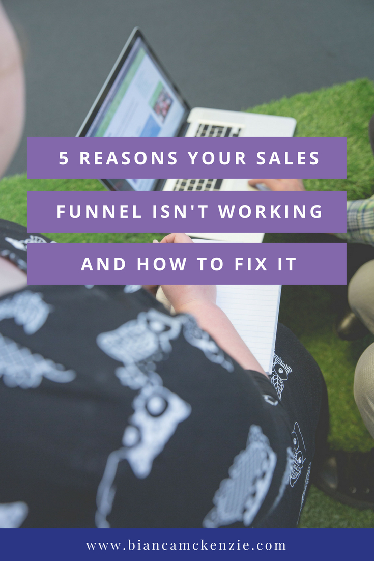 Sales Funnel not working Pinterest