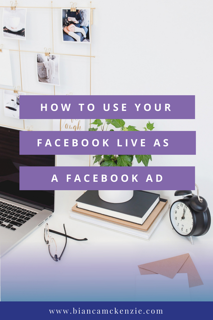 Use FB Live as FB ad