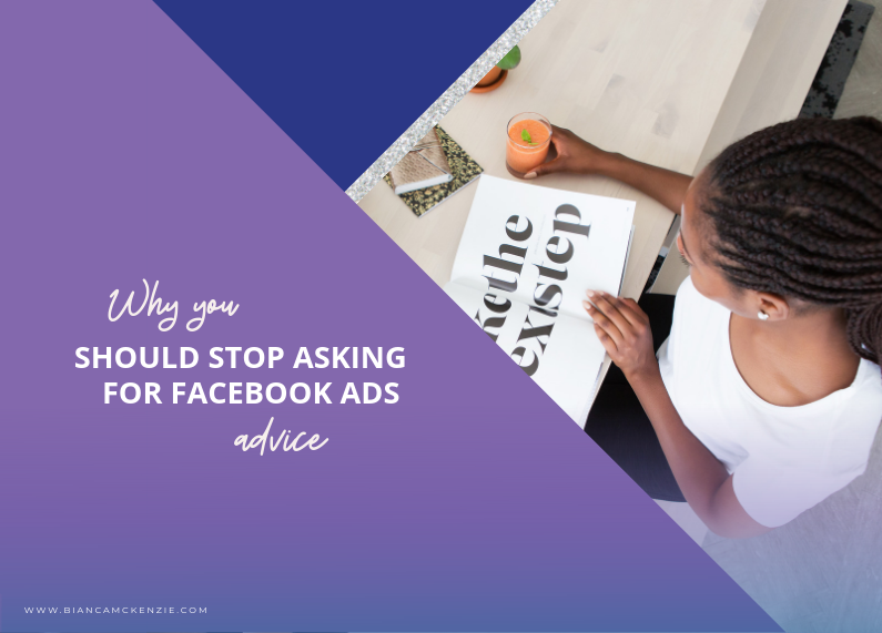 Why you should stop asking for Facebook Ads advice