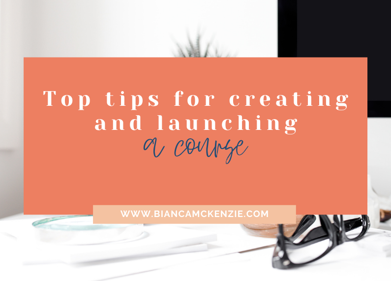 Top tips for creating and launching a course