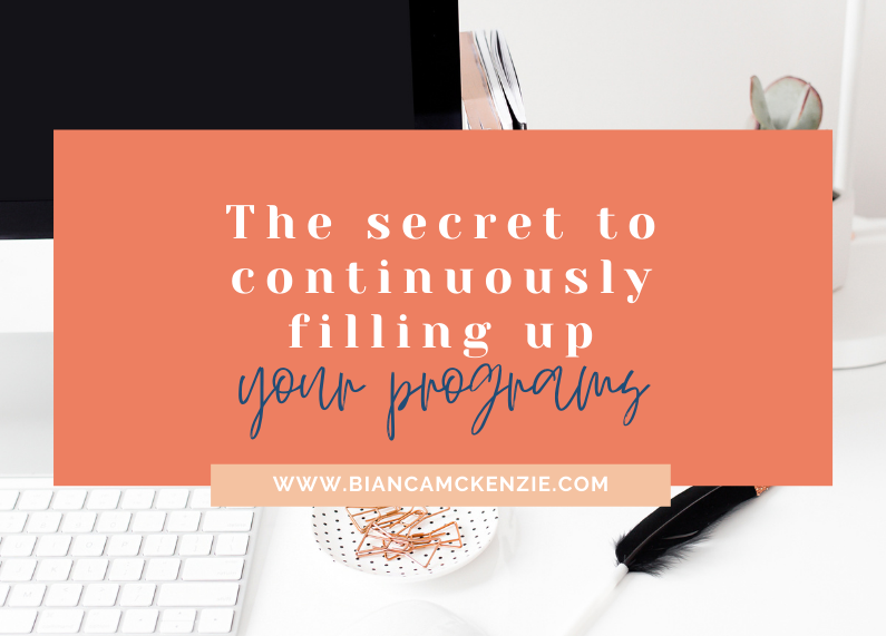 The secret to continuously filling up your programs