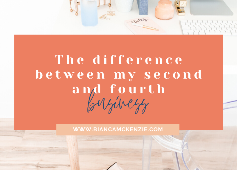 The difference between my second and fourth business